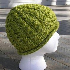Chunky Dean Street Hat - by Nina Machlin Dayton, a chunky version of the Dean Street Hat, 3 sizes and two edge treatments.