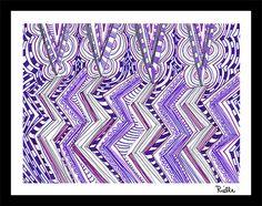 "Greeting Art Card w/envelope, ""Rain Drops Keep Falling On My Head,"" by Rielle 5 1/2"" x 4 1/4"" on Etsy, $4.99"