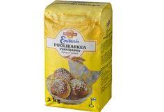 Emännän Puolikarkea Vehnäjauho 2 kg San Pellegrino, Beverages, Canning, Food, Essen, Meals, Home Canning, Yemek, Eten