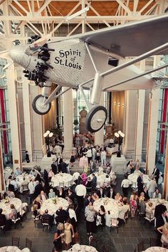 Reception at the St. Louis History Museum   Photography: Lifetime Media   Wedding Planner: Cosmopolitan Events
