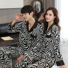Pajama Suit, Pajama Top, Satin Pajamas, Pyjamas, Couple Outfits, Pajamas Women, Nightwear, Night Gown