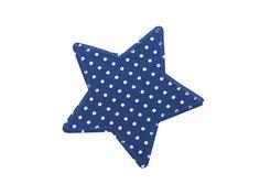 Applikation Stern Punkte blau Knieflicken von Silwarin auf DaWanda.com