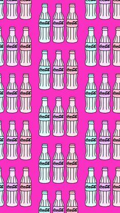 Pink Wallpaper, Cool Wallpaper, Cute Wallpapers, Iphone Wallpapers, Cellphone Wallpaper, Coca Cola, Digital Prints, Girly, Pattern