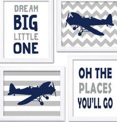 Decor quartinho de bebê aviões_ideia quadrinhos