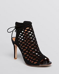 Joie Open Toe Sandals - Clayton Laser-Cut Mock Bootie | Bloomingdale's