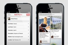 Latest Mobile App Updates, via the Official Pinterest Blog - Wow smoother and quicker! Nice job Pinterest! Now bring back rearrange boards, social sharing for each pin, and Twitter handles.