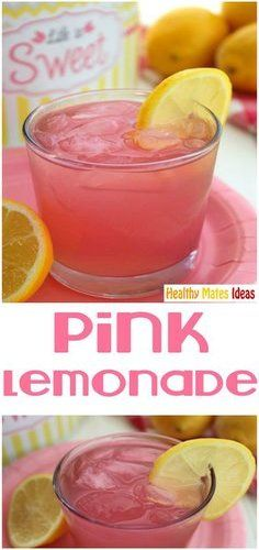 Perfect Liver Cleanse Cocktail with an Energy Booster! HOMEMADE PINK LEMONADE!!! Pink Lemonade - This is the perfect Summer drink and the best pink lemonade recipe I've had!