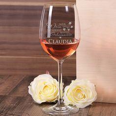 Leonardo Weinglas mit Poesie und Wunschname