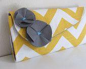 Yellow and White Chevron wallet