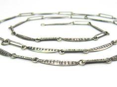 Pea Pod Chain Necklace. ORNO Poland 800 Silver Links. Slender