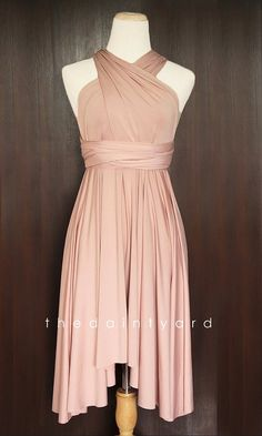 Nude Bridesmaid Convertible Dress Infinity Dress Multiway Dress Wrap Dress Wedding Dress on Etsy, $34.00
