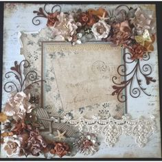 PreMade Scrapbook Shabby Chic Floral Lace Page by Becky ❤ liked on Polyvore featuring accessories, scarves, backgrounds, floral scarves, lacy scarves, lace shawl, lace scarves and lacy shawl