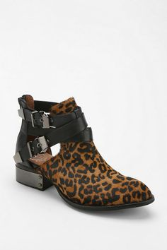 Urban Outfitters - Jeffrey Campbell Everly Animal Print Cutout Ankle Boot