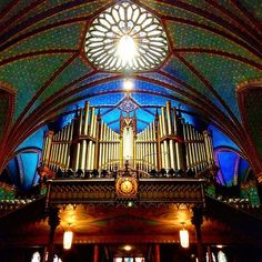 #canada #montreal #vieuxmontreal #eglise #church #basiliquenotredame #orgue…