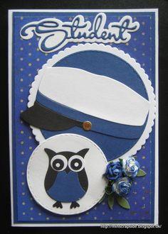 En stak kort igen, så jeg kan pinne på en let måde. Owl Bird, Stone Art, Kids Cards, Projects To Try, Gifts, Diy, Owls, Graduation, Students