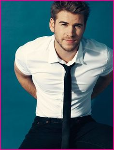 Liam Hemsworth...hot even though he's engaged to Miley.