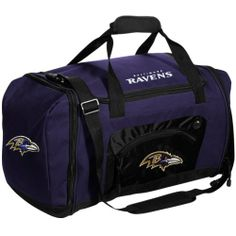 NFL Baltimore Ravens Duffle Bag Team Colors Roadblock,