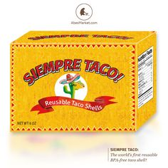 Reusable taco shells?? Siempre Taco makes taco night soooo much tastier! #LiveNatural #AbesFools