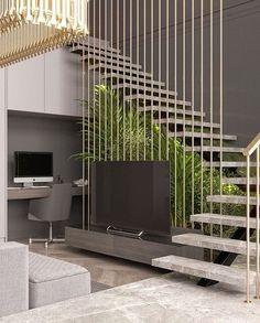 Modern entryway, modern stairs, interior stairs, home interior design Home Stairs Design, Railing Design, Interior Stairs, Modern House Design, Modern Interior Design, Stair Design, Modern Stairs Design, Modern Entryway, Entryway Ideas