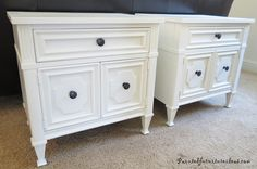 nightstand makeover - before & after pix.  Lots of other makeovers here too