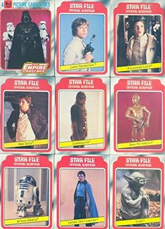 STAR WARS EMPIRE STRIKES BACK ESB 1 1980 TOPPS BASE CARD & STICKER SET 132  33 @ niftywarehouse.com