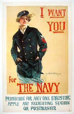 Christy Navy Poster; WWI