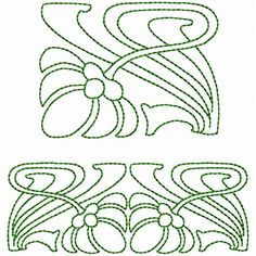 Articles similaires à Celtic flower and Celtic border Embroidery Designs for machine embroidery. Border very nice for pillowcases and towels etc sur Etsy Motifs Art Nouveau, Design Art Nouveau, Motif Art Deco, Art Nouveau Pattern, Art Nouveau Tiles, Border Embroidery Designs, Embroidery Art, Quilting Designs, Machine Embroidery