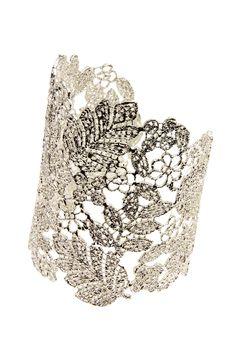 Handmade Silver Cutout Cuff