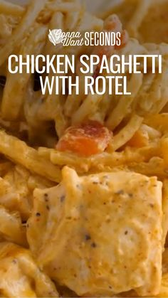 Easy Casserole Recipes, Casserole Dishes, Chicken Pasta Casserole, Chicken Spaghetti Recipes, Pasta Recipes With Chicken, Pasta Dinner Recipes, Pasta Dishes, Food Dishes, Main Dishes