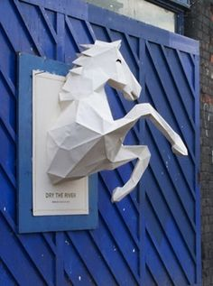 3D paper-crafted horse