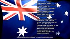 Australia National Anthem ADVANCE AUSTRALIA FAIR with music, vocal and lyrics - YouTube