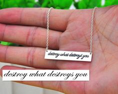 Sterling Silver Handwriting Necklace by weimeiOrnaments on Etsy