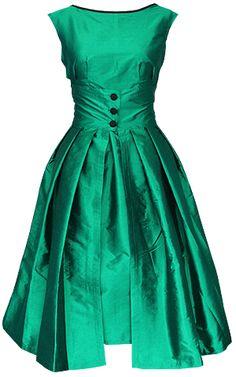 #green vintage dress