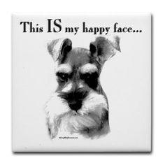 Happy face - #miniature schnauzer Link: https://www.sunfrog.com/search/?64708&search=schnauzer&cID=62&schTrmFilter=sales
