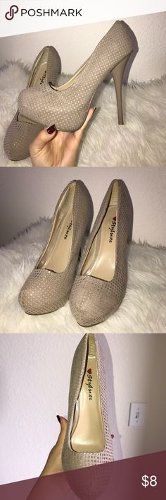 Heels **NOT Aldo, just listed for exposure** Platform heels, were worn twice but they are in good condition, with a nice clean they'll look great. Aldo Shoes Heels