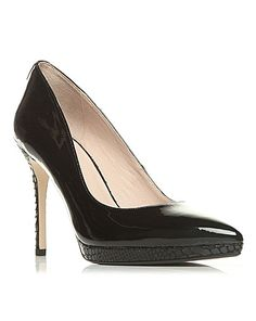 483a698cb21d Head Over Heels by Dune - Black  ameliana  mid stiletto heel court shoes