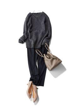 スタイリスト森 陽子さん発!新作シューズで秋モード|Today's Pick Up|ユニクロ Mode Outfits, Casual Outfits, Fashion Outfits, Womens Fashion, Work Fashion, Daily Fashion, Style Fashion, Casual Chic, Looks Style