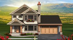 Home Plan HOMEPW77266 - 1870 Square Foot, 3 Bedroom 2 Bathroom Craftsman Home with 3 Garage Bays | Homeplans.com
