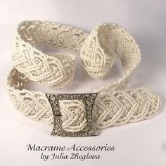 "Macrame belt ""Heart To Heart"", white women's lace braided belt Macrame Headband, Macrame Dress, Macrame Bag, Macrame Necklace, Micro Macrame, Macrame Jewelry, Macrame Bracelets, Lace Braid, Braided Belt"