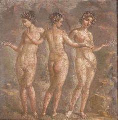Muses - Museo archeologico nazionale di Napoli - Le tre Grazie - affrescchi da Pompei