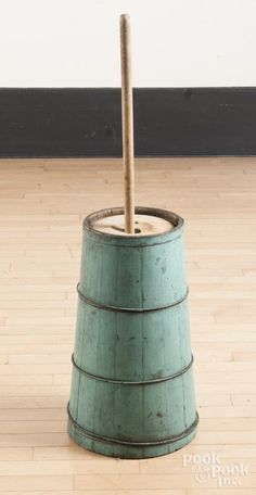 Painted pine butter churn - Price Estimate: $140 - $240
