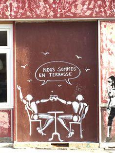Nous sommes en terrasse, Jerome Mesnager http://www.pariscotejardin.fr/2016/01/nous-sommes-en-terrasse/