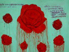 Grazyna Brylewska, Roses for CY Twombly, 2012    #art #painting #roses #lasem #grupalasem