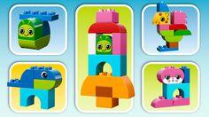 LEGO® DUPLO® - Kreatív állatok Inspiráld gyermekedet arra, hogy építsen zsiráfot, kutyust, nyuszit, hernyót és elefántot a LEGO®DUPLO® Kreatív állatok készletből.