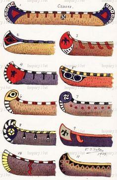 Les canoës - Histoire