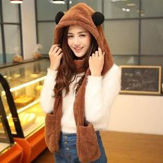 3ac3dfed2be1 45 Best womens animal hat scarf and gloves all in one for winter ...