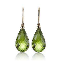Buy Gump's Peridot Briolette Drop Earrings online at Gump's
