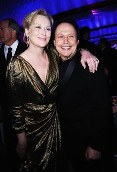 With Billy Crystal Hooray For Hollywood, Hollywood Stars, Billy Crystal, Childhood Photos, Meryl Streep, Party Photos, Favorite Person, Famous Faces, American Actress