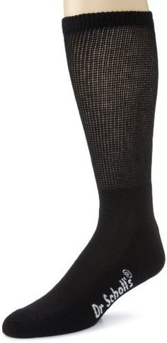 Dr. Scholl's Men's Big-Tall Non-binding Crew 2 Pair Sock Dr. Scholl's. $13.00. 95% Polyester/3% Nylon/2% Spandex. Machine Wash. Non-binding top to allow circulation. Made in China. Anti-microbial treatment to eliminate odor