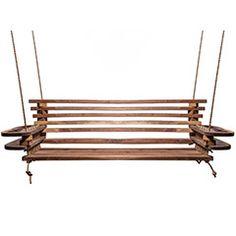 Walnut & Rope Bench Swing